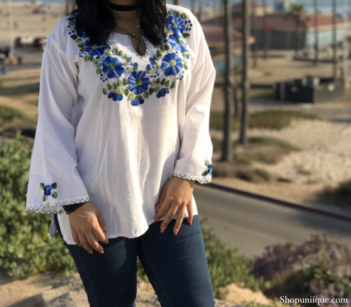 White Floral Long Sleeve