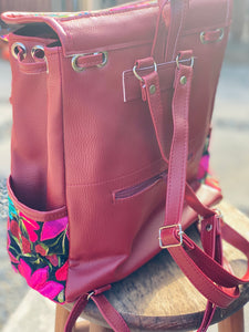 Burgundy & Black Backpack