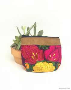 Floral Purple Coin Purse
