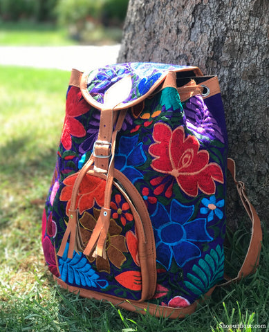 Purple Blue Backpack