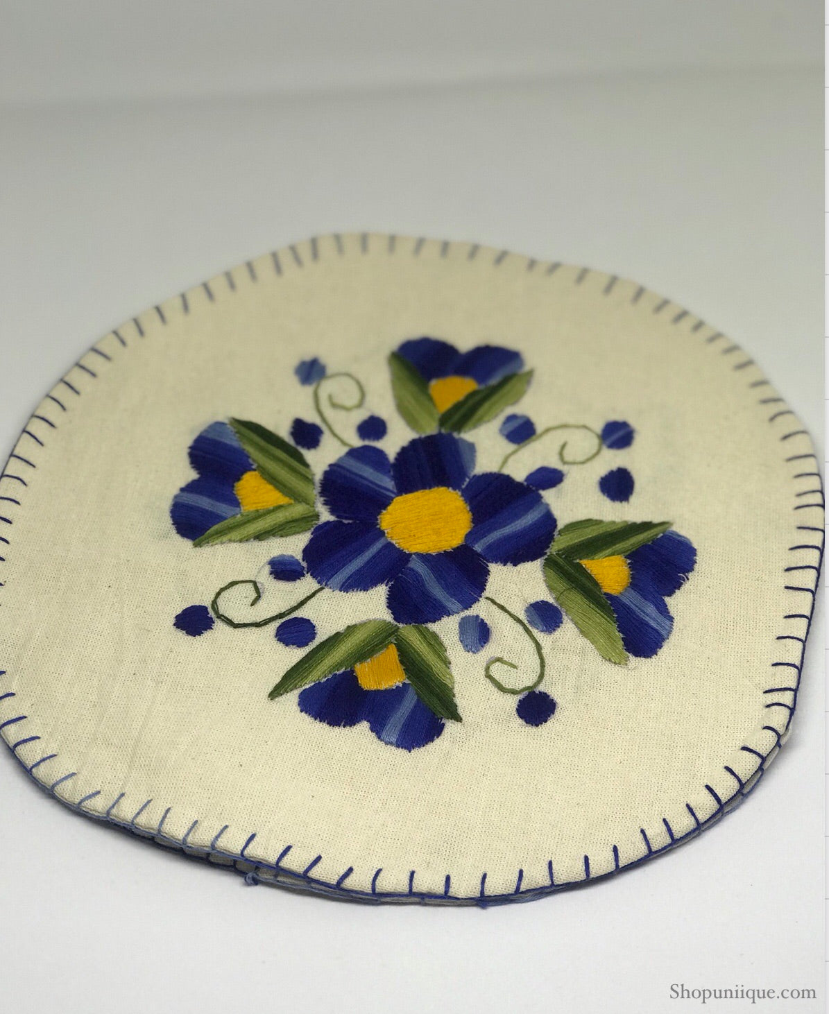 White & Blue Tortilla Warmer