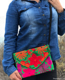 Medium Green Cross Body Clutch