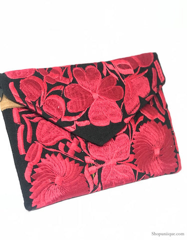 Medium Black and Red Clutch