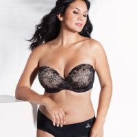 Curvy Couture Strapless Sensation Multi-Way Push Up Bra The Lingerie Journal