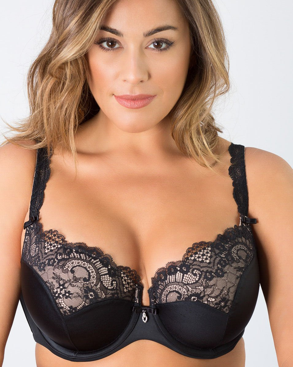 Tulip Lace Push Up - Black