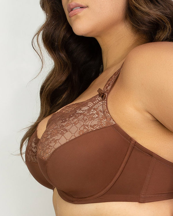 Tulip Lace Push Up - Chocolat Nude