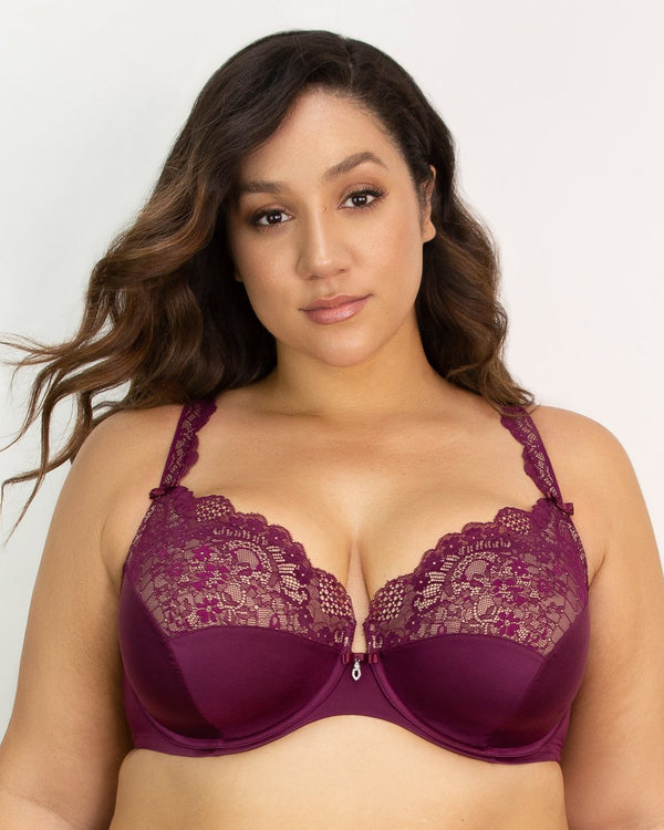 Tulip Lace Push Up - Purple Velvet - FINAL SALE!