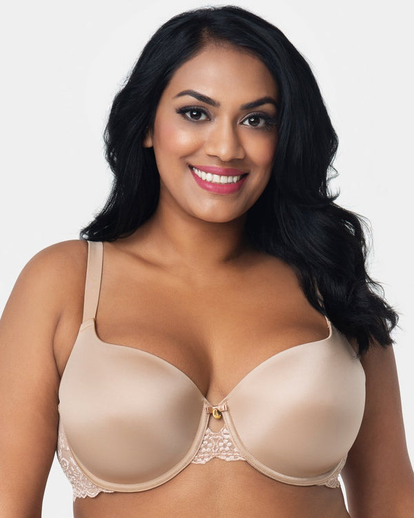 Lace Shine T-Shirt Bra - Champagne Nude - Final Sale!
