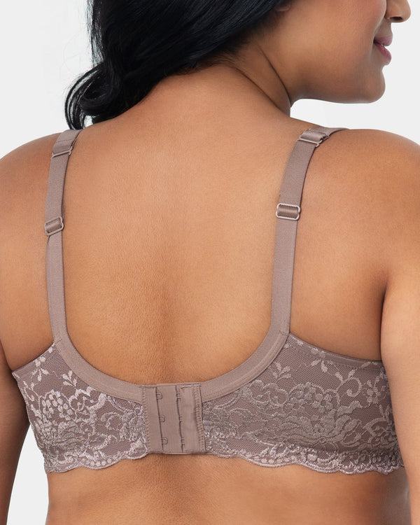 Lace Shine T-Shirt Bra - Taupe - Final Sale!