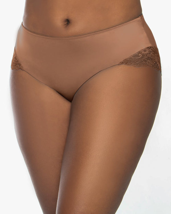 Tulip Lace Hipster - Chocolat Nude - FINAL SALE!