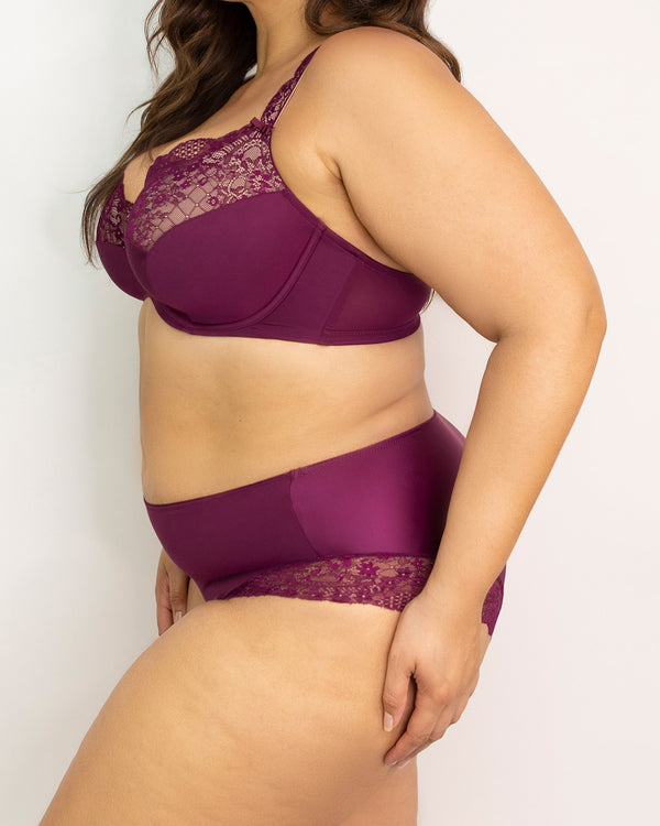 Tulip Lace Hipster - Purple Velvet - FINAL SALE!