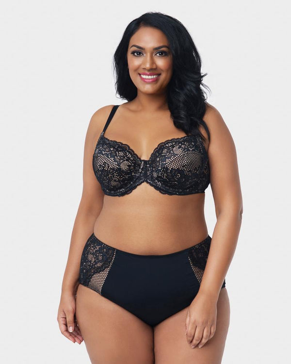 Beautiful Bliss Lace Panty - Black - Curvy Couture