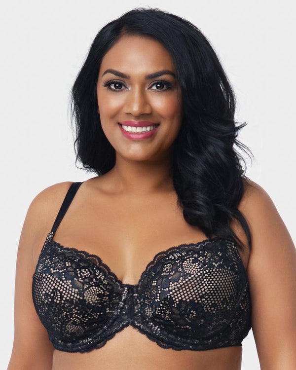 Beautiful Bliss Lace Unlined - Black - Curvy Couture