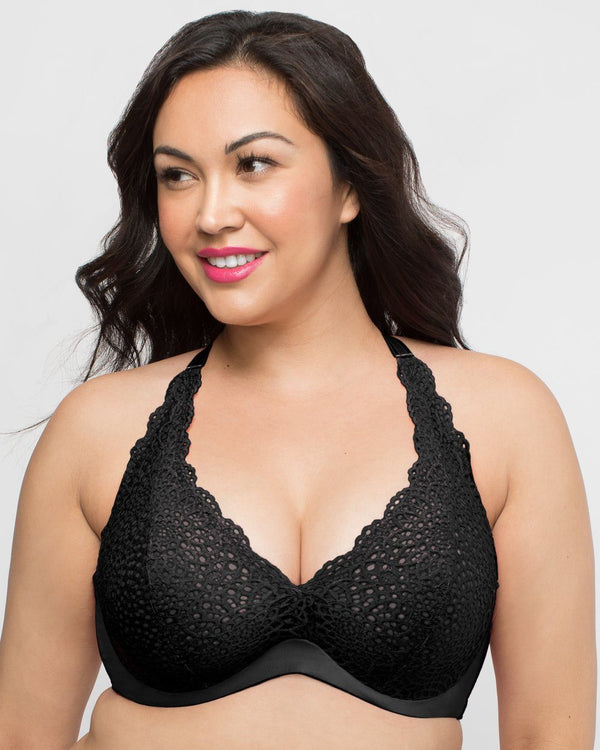 Crochet Lace Halter - Black - Final Sale! - Curvy Couture