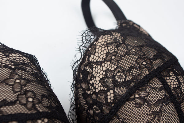 Eternal Eyelash Lace Bra - Black - Curvy Couture