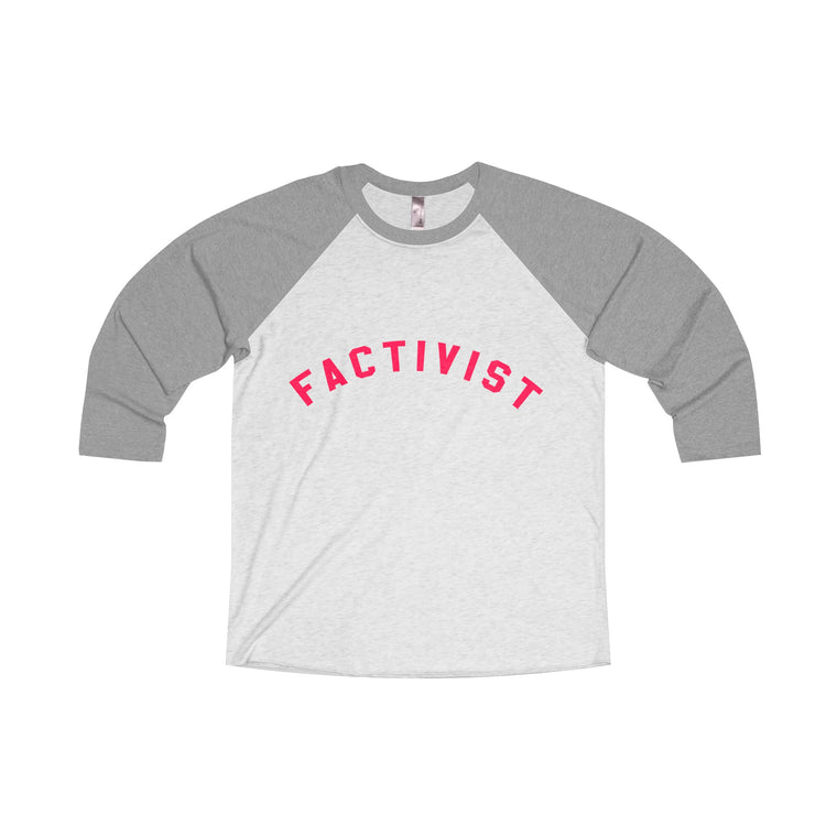 Factivist Raglan Long Sleeve Tee (Unisex)