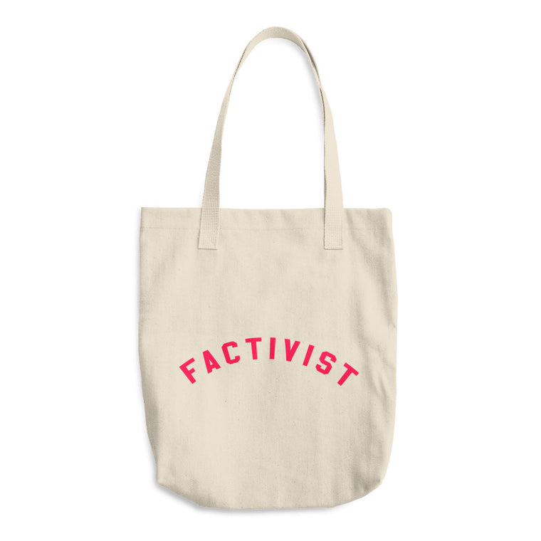 Factivist Red Tote Bag