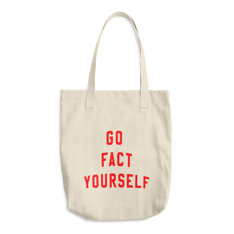 Go Fact Yourself Red Tote Bag