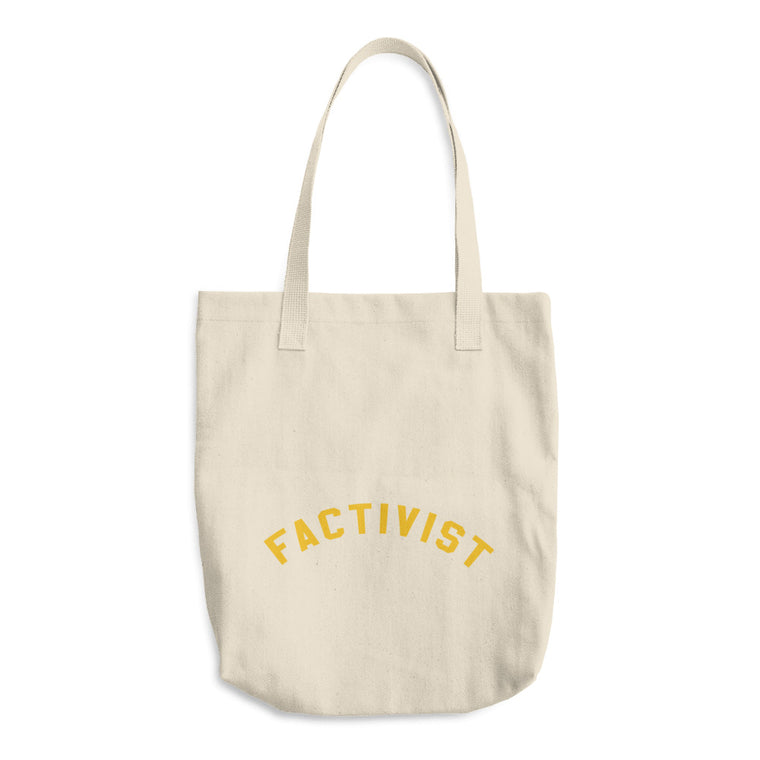 Factivist Yellow Tote Bag