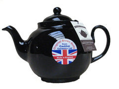 6 Cup Brown Betty Teapot in Rockingham Brown by Cauldon Ceramics