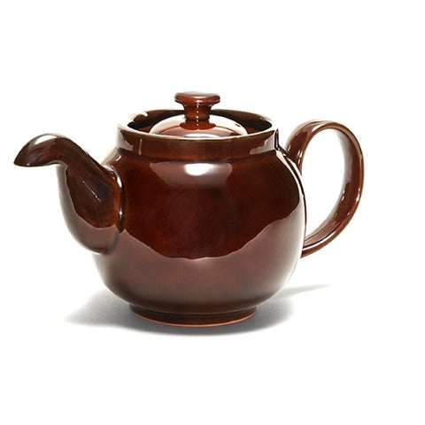Limited Edition Ian McIntyre Brown Betty 4 Cup Teapot with Infuser in Rockingham Brown by Cauldon Ceramics