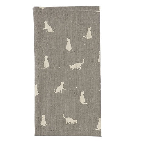 Dexam Rushbrookes Happy Cats Tea Towel Slate