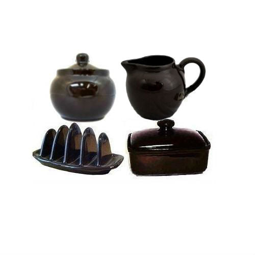 Brown Betty Teapot Accessories in Rockingham Brown by Cauldon Ceramics