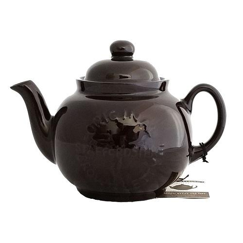 Cauldon Ceramics 4 Cup Brown Betty logo teapot with infuser
