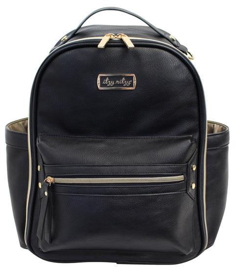 Mini Diaper Bag Backpack - Black