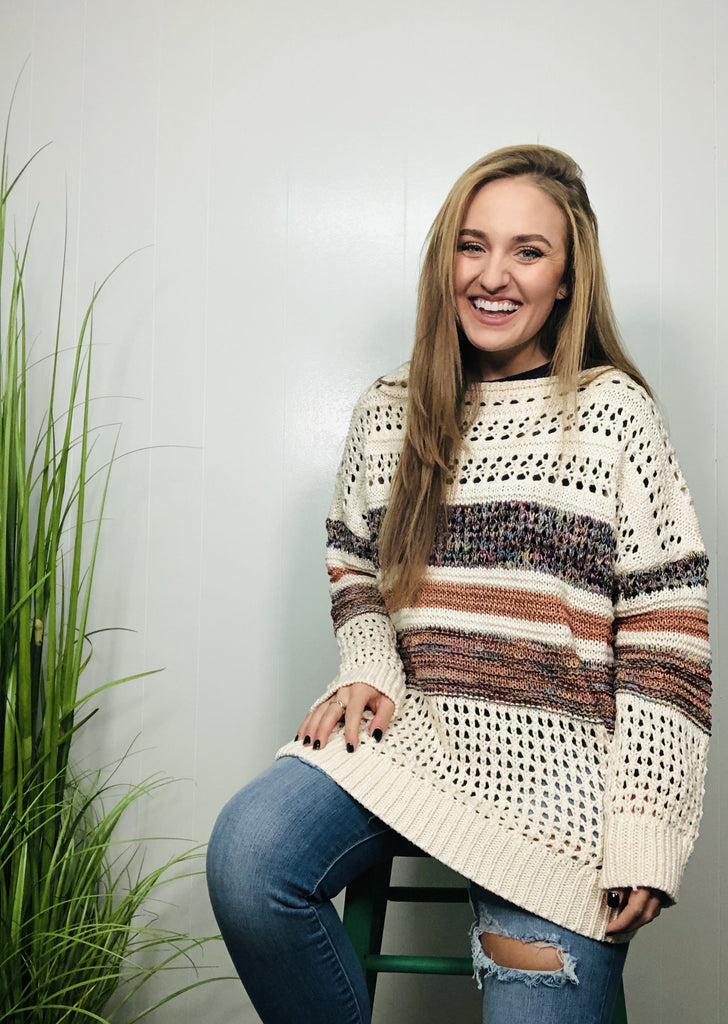 Cream and Sparkles Sweater