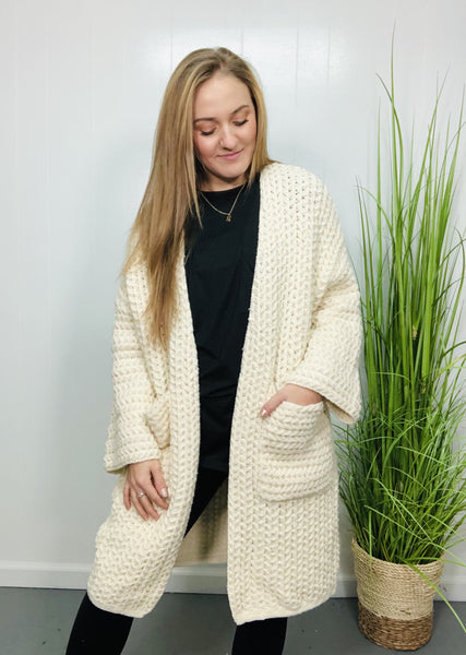 Braided Cream Cardigan