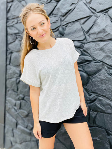Heather Top - Grey