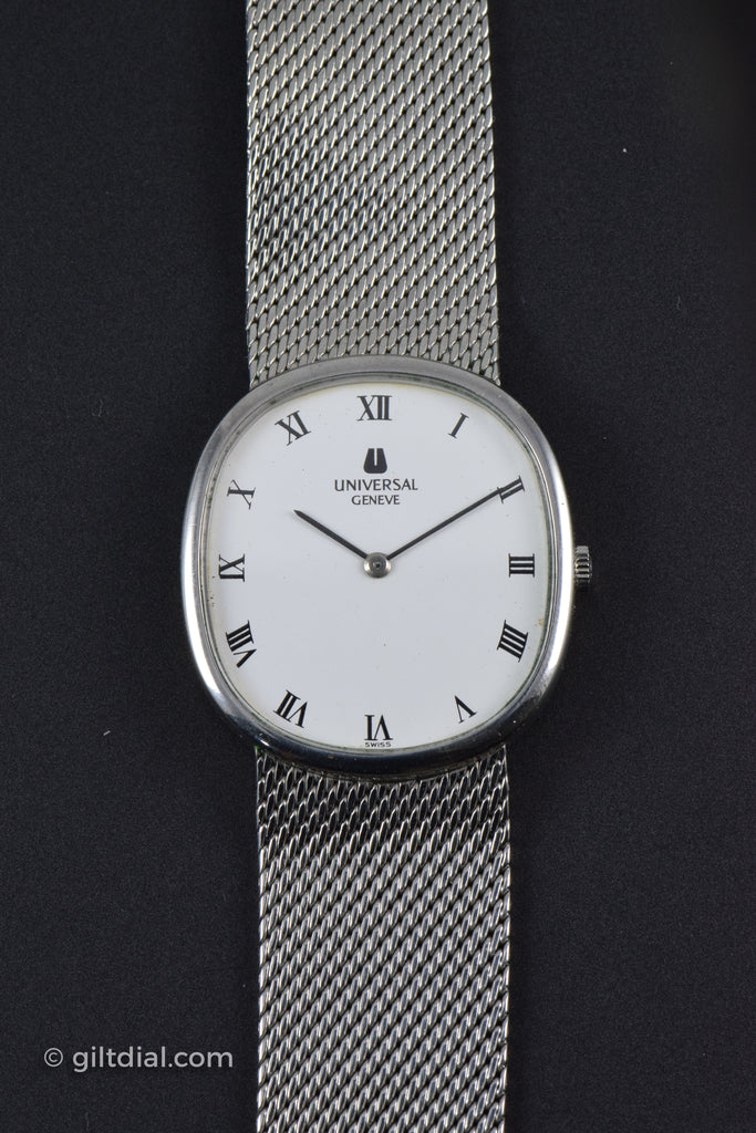 Universal Geneve White Mens Wrist Watch