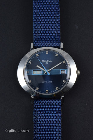 Bulova Automatic Retro Blue Day Date