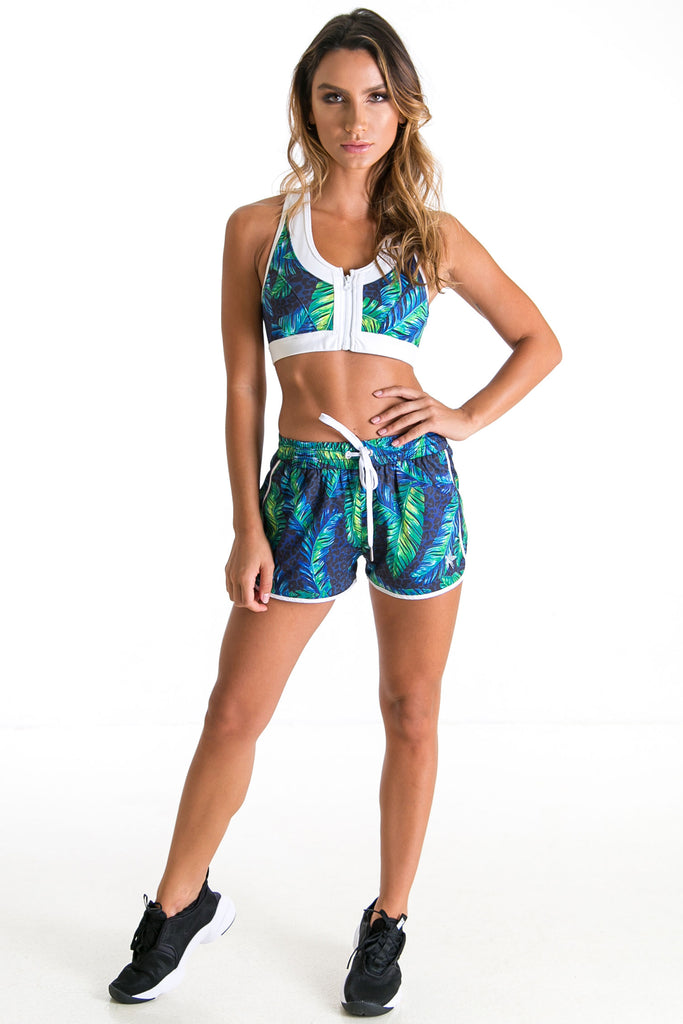 Nikki Mystic Jungle Sports Bra (XS & S Only) - Xahara Activewear