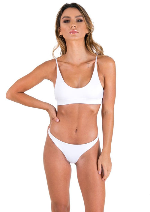 KoKo Swim Crop - White - Xahara Activewear
