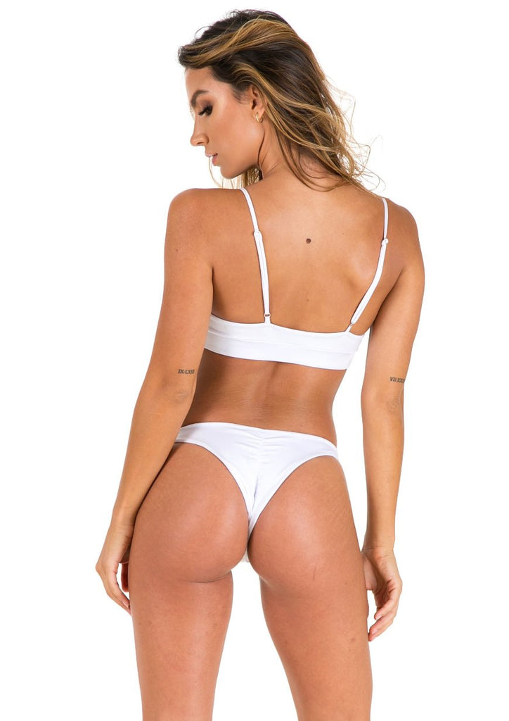Elle Swim Bottoms - White - Xahara Activewear