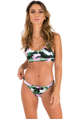 Elle Swim Bottoms - Pink Army - Xahara Activewear