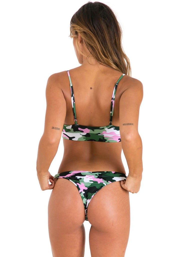 KoKo Swim Crop - Pink Army - Xahara Activewear