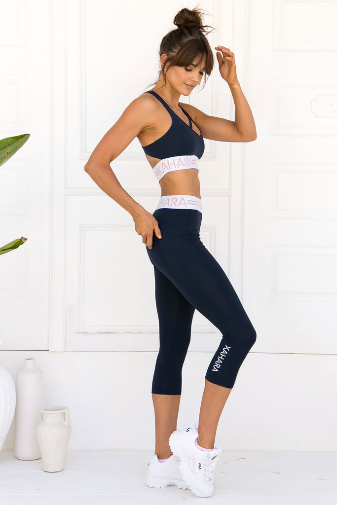 Chloe Sports Bra - Navy - Xahara Activewear