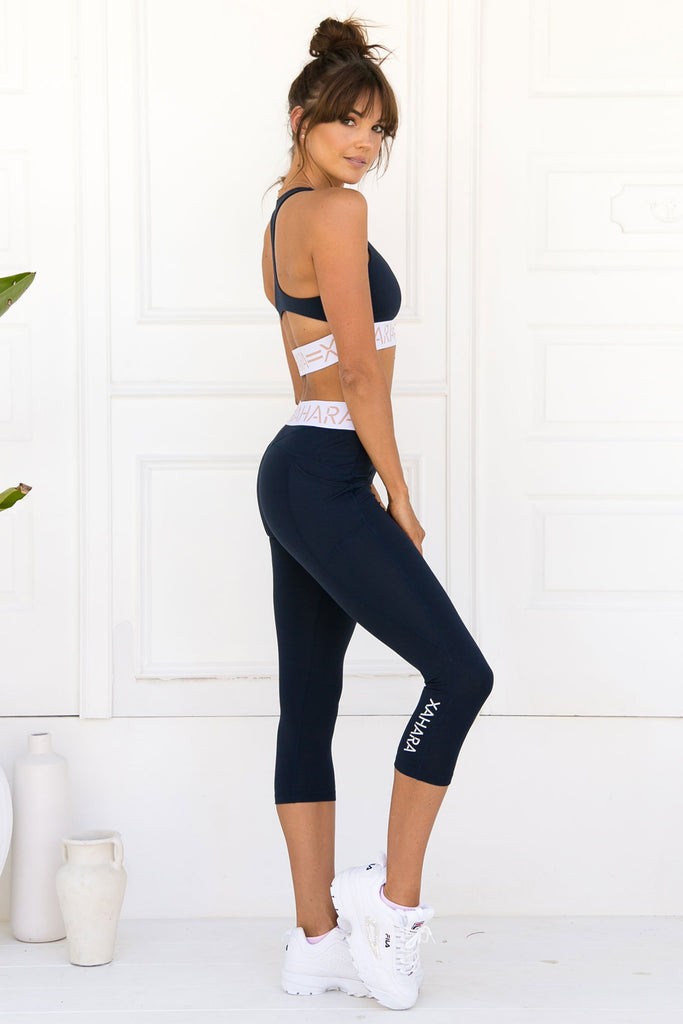 Paris 3/4 Legging - Navy - Xahara Activewear
