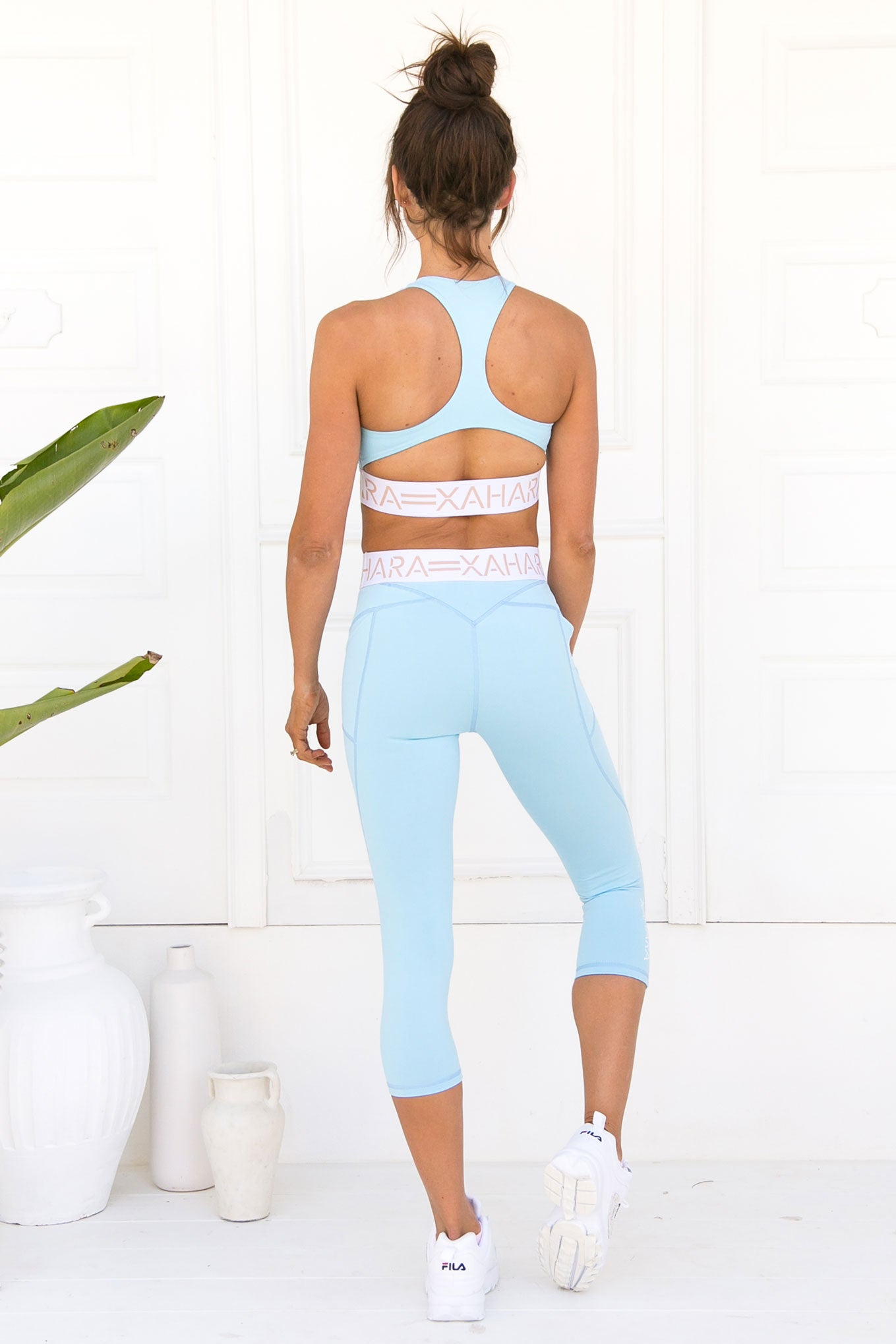 Chloe Sports Bra - Powder Blue - Xahara Activewear