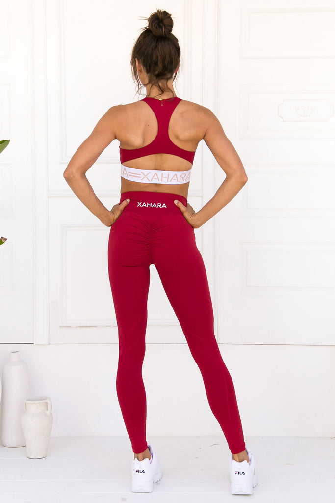 Chloe Sports Bra - Rouge - Xahara Activewear