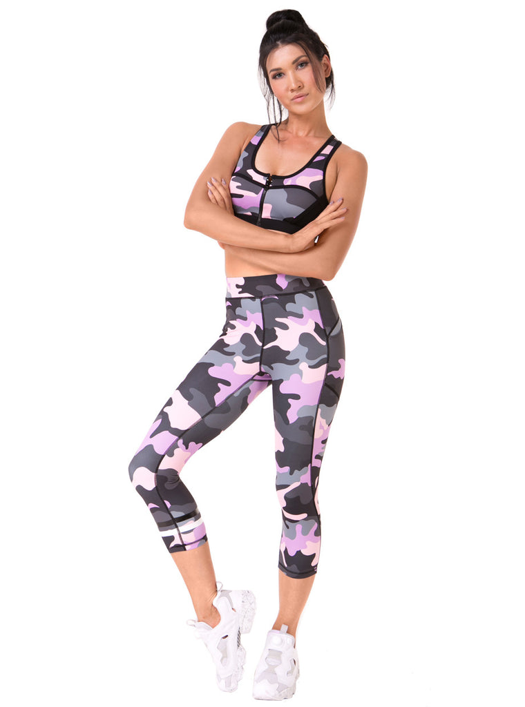 Carmen Camo Sports Bra (XS & S Only) - Xahara Activewear