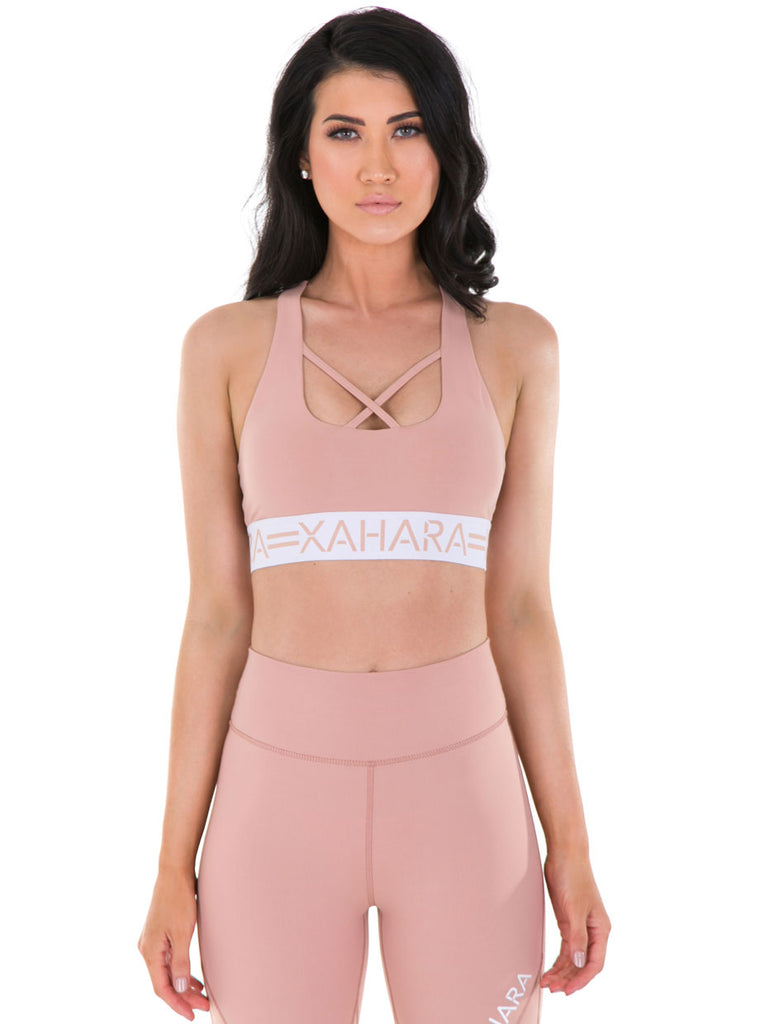 Chloe Sports Bra - Blush - Xahara Activewear