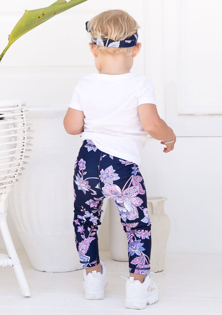 Junior Oriental Paisley Leggings - Xahara Activewear
