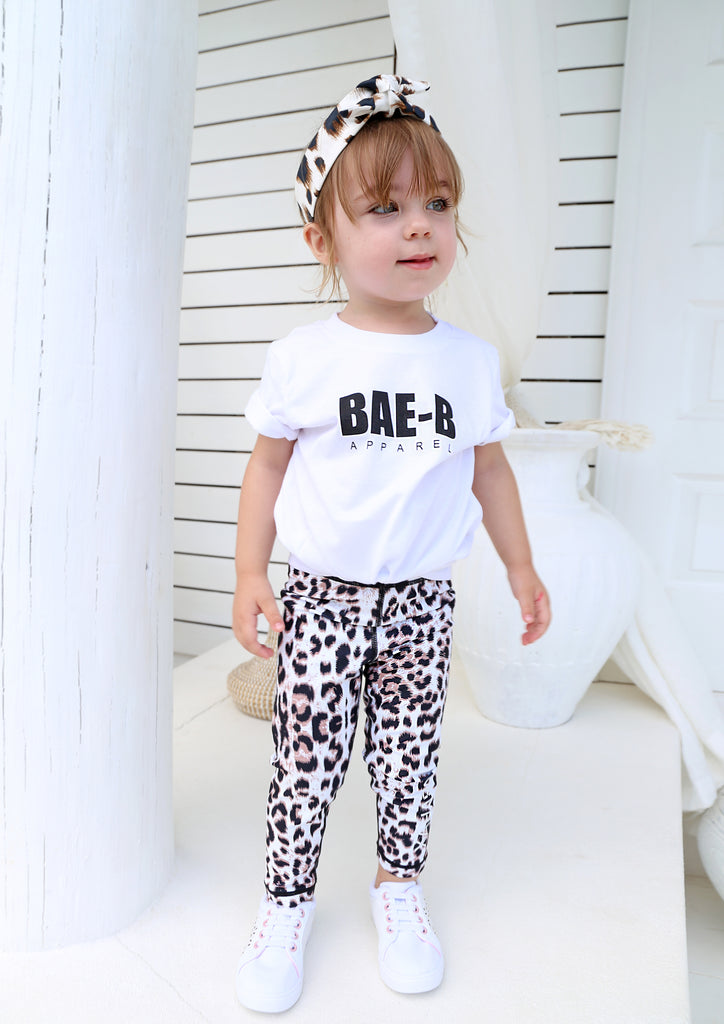 Junior Snow Leopard Leggings - Xahara Activewear