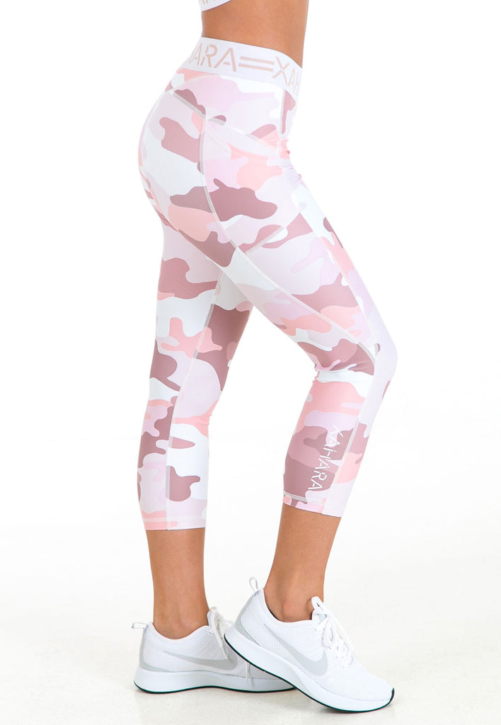 Paris 3/4 Legging - Pastel Camo (XS Only) - Xahara Activewear