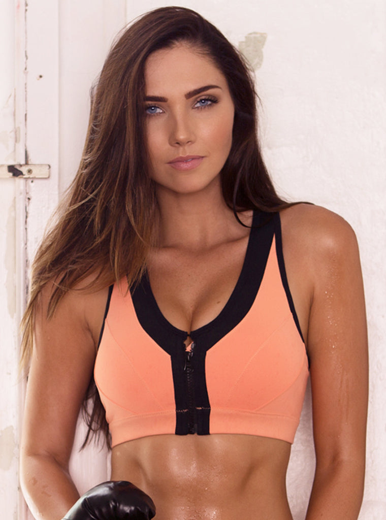 Vixen Peach Sports Bra (M, L Left) - Xahara Activewear