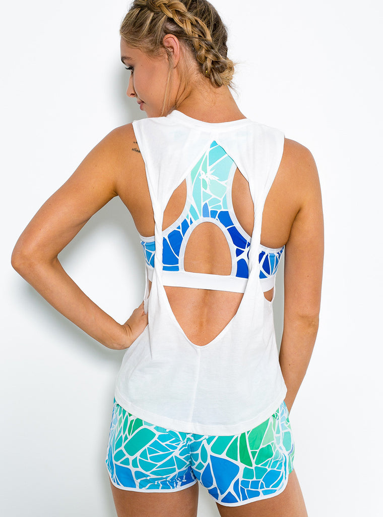 Warrior Tank Maldives (L & XL Left) - Xahara Activewear